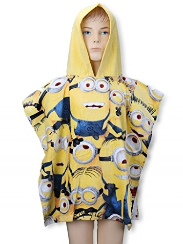 Handtuch Poncho Meer Minions Band 55x110 100% Baumwolle STN820749. -