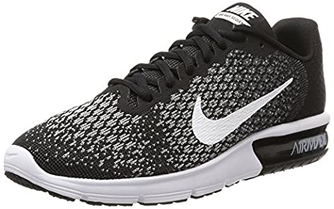 Nike Air Max Sequent 2, Running Homme, Noir (Black/White-Dark Grey-Wolf Grey), 42 EU
