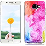 Étui en Silicone pour Samsung Galaxy A3 2016 SM-A310F, Silingsan Silicone Case Coque Transparent TPU Housse Design Unique Étui Souple Flexible Case Résistant Aux Rayures Étui de Protection Complet Étui à Absorption de Choc - Color Art