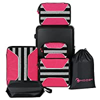6 Set Packing Cubes-(4 Cubes + 1 Laundry Bag + 1 Shoes Bag)Travel Luggage Packing Organizers&Compression Pouches�??