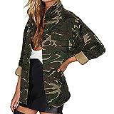 FORH Damen Vintage Camouflage-Style Gedruckte Hoodie Sweatshirt super weich Kapuzenpulli Tops Bluse (S, Armeegrün A)
