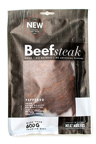 The Meat Makers Peppered Dried Beef Steak 200g – Premium Getrocknetes Rindfleisch – Beef Jerky