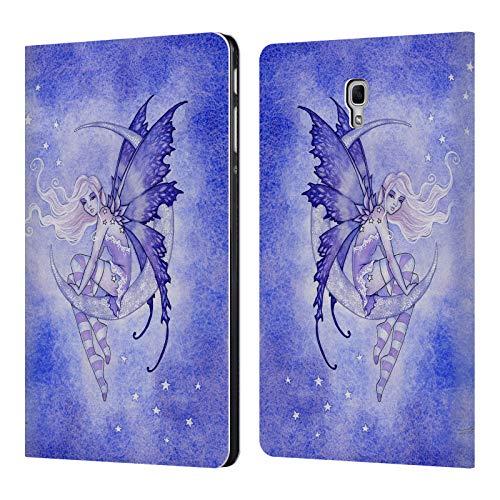 Head Case Designs Offizielle Amy Brown Mond Fee Elementare Feen Leder Brieftaschen Huelle kompatibel mit Samsung Galaxy Tab A 10.5 (2018)
