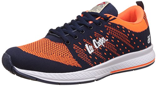 Lee Cooper Men's Navy and Orange Sneakers - 7 UK/India (41 EU)