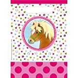 Neu: 8 Partytüten * Mein Ponyhof * für Kindergeburtstag und Motto-Party | Kinder Geburtstag Mitgebsel Tüten Mädchen Pferde Pony Reiten Geschenk