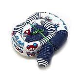 Bettschlange 210cm Baby Nestchen Nackenrolle Kissen Babynest 2,1 M Babynestchen Bettrolle (Muster Dunkelblau 210cm)