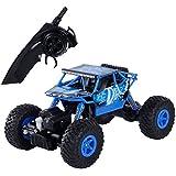 SGILE RC Rock Crawler Coche de Juguete 1:18 teledirigido 2.4GHZ 4WD Vehículos de los juguetes de carretera Monster Truck (Azul)