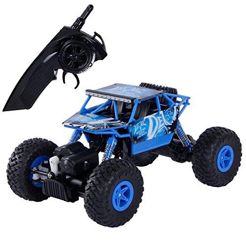 SGILE RC Auto Telecomandata 1:18 2.4GHZ 4WD Giocattoli di Modellino Veicolo Monster Truck (Blu)