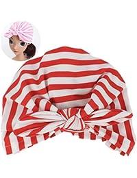 Sombrero del Bebé Niña con Orejas De Conejo del Sombrero Los Niños Pequeños Suave Turbante Raya
