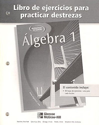 Algebra 1, Spanish Skills Practice Workbook por McGraw-Hill