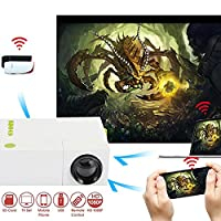 Cewaal Mini Projector, (UK)1080P LED Projector for iPhone Android Smartphone HDMI Devices Home Cinema Theater Great Leis