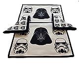 Mantel Individual de tela / Salvamanteles y Servilleta de tela Darth Vader y Soldados Imperiales Star Wars / Juego de 2 salvamanteles + 2 servilletas