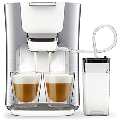 Philips Senseo Latte Duo HD6574/20 Kaffeepadmaschine (2 Kaffee - frische Milch) silber