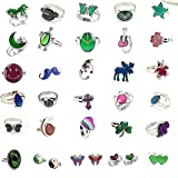 LH-Charm 10pcs Mixed Mood Ring Change Color Ring Adjustable Size Temperature Finger Ring