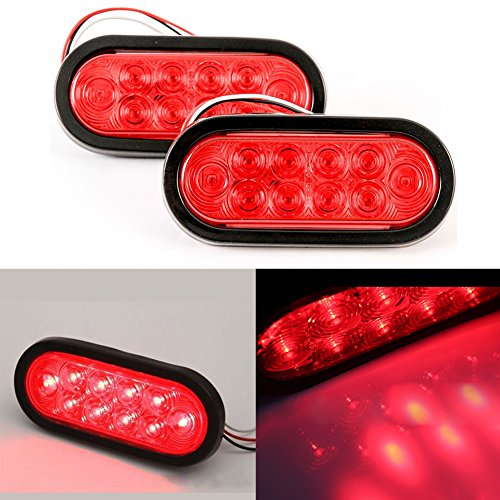 EMVANV 212V 15,2cm Oval Stop Turn Tail Light versiegelt Rückseite Bremslicht Hinten Signal Indicator Trailer Truck LED Surface Mount -
