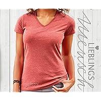Damen T-Shirt, T-Shirt mit Aufdruck Lieblingsmensch, Damen T-Shirt mit V-Ausschnitt, T-Shirt Figurnah, Geschenk für einen lieben Menschen
