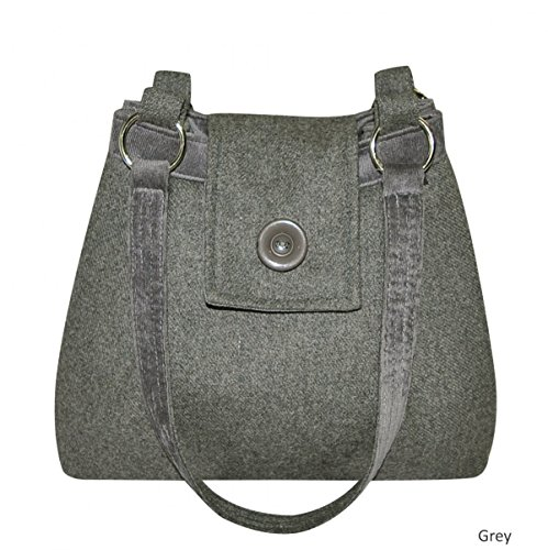 Mimosastyle , Cabas pour femme Multicolore Pewter Plain Wool Grey