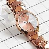 Mechanische Armbanduhr Wolfram Stahl Quarzuhr Wasserdicht Uhr Automatik Mode Frauen Geschenk Studenten Armbanduhr Frauen Mädchen Modelle Rose Gold Luminous Double Calendar Male Models
