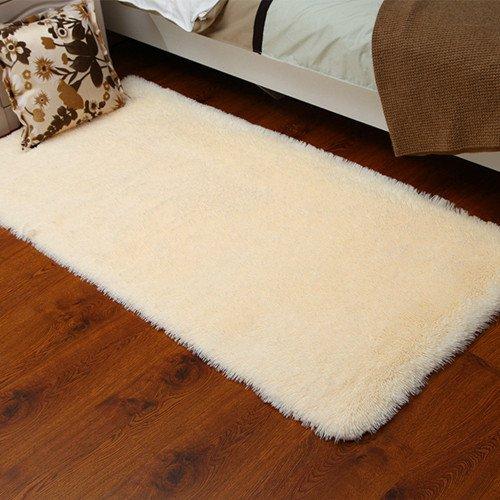 kooco 40* 60cm Solide Pink Rot Farbe Teppich Schlafzimmer Dekorieren Weich Boden Teppich Warm Colorful Wohnzimmer, Polyester, beige, 40cmx60cm (Teppich 1401)
