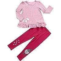 Aikobaby Neonate sveglie puntini di Polka Abito A Maniche Outfits 2 Pezzo T-shirt Tops & (3 Pezzi Bambino Outfit)