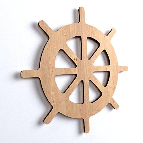 ... 10x Schiff Lenkrad Ruder Holz Basteln Bemalen Hängedeko Sommerdeko Meer  (V57) ...