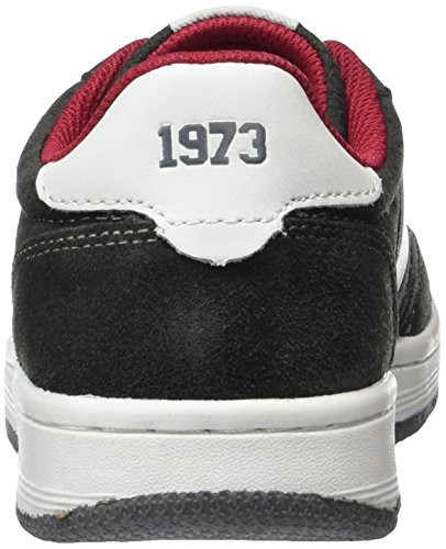 Dockers by Gerli 38ce604-208 Unisex-Kinder Low-Top Grau (dunkelgrau/weiss 225)