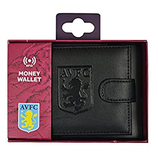 Aston Villa FC RFID Embossed Leather Wallet