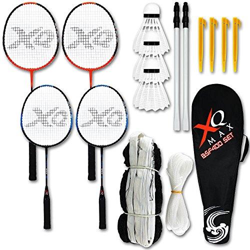 Federball - Federballset - Badminton Schläger und Ball und Netz Set mit Modellauswahl (BSF400)