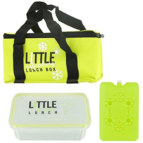 Promobo - Lunch Bag Panier Repas Isotherme Box Fraicheur avec Pain de Glace Vert