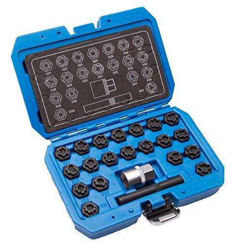 22 TLG Felgenschloss VAG Radbolzen Knacker Demontage Werkzeug Schlüssel Set