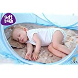 New Born Baby Bedding With Three Pillows 1 Head And 2 Side Pillows ,super Soft For Babies By Cora, Foldable Mosquito Net ,mosquito Net Bed Cum Sleeping Bag,Bed For Just Born Baby (multicolour - Colour May Vary)