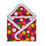 #2: Guru Kripa Baby Products™ Presents New Born Baby High Quality 100% Cotton Soft To Baby Delicate . Skin Cartoon Print Hooded Chaddar Cum Odddna Wrapping Wrapper Sheet Double Layer Baby Sleeping Cotton Sheet (Red)