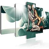 murando - Bilder 225x112 cm - Vlies Leinwandbild - 5 TLG - Kunstdruck - modern - Wandbilder XXL - Wanddekoration - Design - Wand Bild - Gestalt Figur Paar Liebe h-A-0046-b-o