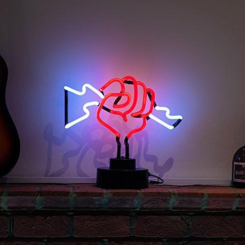 Lightning mit Faust Skulptur–Echter Neon (nicht LED)