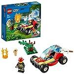 LEGO-City-Fire-Incendio-nella-Foresta-con-Minifigure-di-Clemmons-una-Civetta-Assonnata-e-Accessori-per-Riprodurre-le-Avventure-della-Serie-TV-Set-di-Costruzioni-per-Bambini-5-Anni-60247
