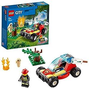 LEGO City Fire - Incendio en el Bosque, Set de Construcción, Incluye un Buggy con Cañón de Agua de Juguete, una Minifigura de Bombero y un Búho, a Partir de 5 Años (60247)