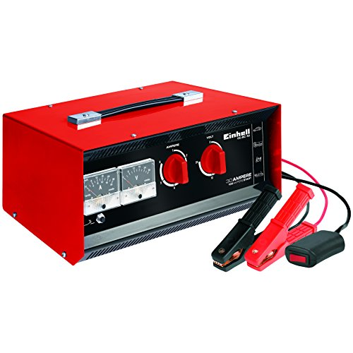 einhell batterie ladegeraet Einhell Batterie-Ladegerät CC-BC 30 (für Batterien von 3 bis 400 Ah, Ladespannung wählbar 6 V/12 V/24 V, Volt- und Amperemeter, Fernstartkabel, Tragegriff)