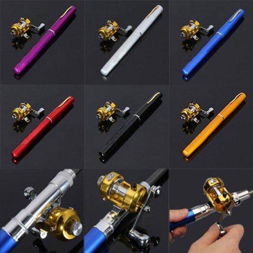Mini tragbares Angelrute Tasche Angeln Set verschiedene Farben