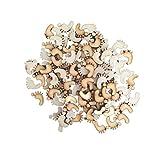 LEORX Hollow Madera Huella adornos Crafts-50pcs