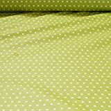 Stoff Baumwolle Acryl Punkte klein kiwi weiß Regenjacke