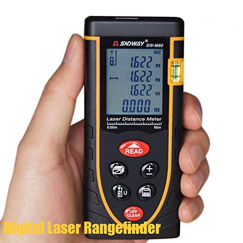 AWIS Laser Range Finder,Digital Range Finder con Conversione Metrica in Pollici,Area di Misurazione,Strumento Volume,60M