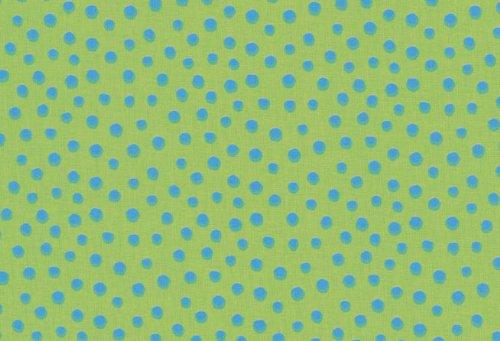 Westfalenstoffe Junge Linie, Meterware große Punkte, grün-blau gepunktet