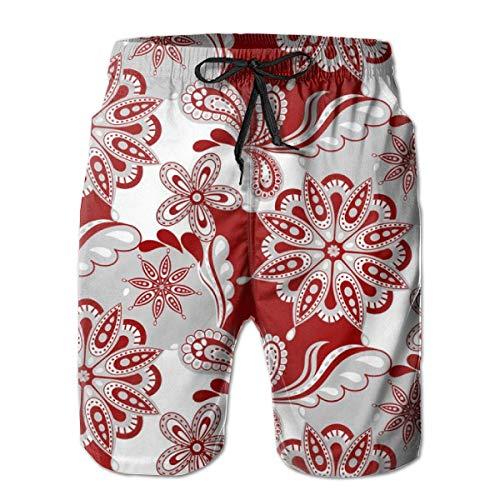 Alabama Paisley Mandala_1550 Herren Boardshorts Badehose Surf Beach Holiday Party Badeshorts Strandhose XL -