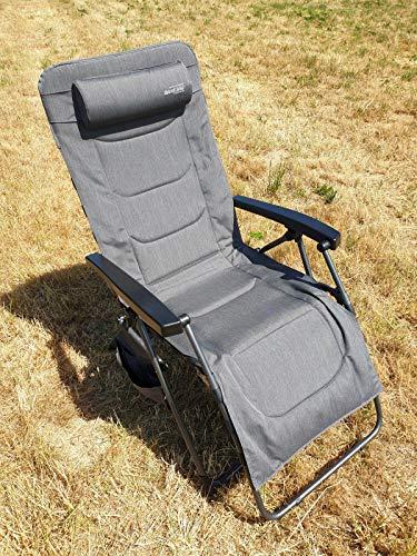 Westfield Relax Lounger XL Relaxliege grau mit Seitentasche
