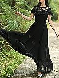 Aashish Garments Black Net Style Ruffle Peplum Women Maxi Dress
