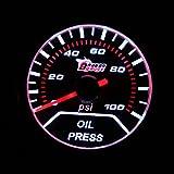 "Festnight 2"" 52mm 0-100PSI Universal Car Smoke Lens Pointer Oil Pressure Gauge Car Styling Auto Gauge Meter Car Instrument"