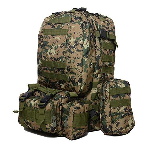 Zaino da trekking campeggio zaino borse zaini outdoor sports, Army Green Jungle Digital