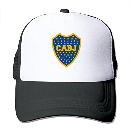 Feruch Latest Adult Unisex Escudo Del Club Atletico Boca Juniors 100% Nylon Mesh Caps One Size Fits Most Adjustable Sport Hat Black -