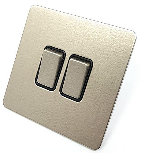 Placa plana sin tornillos Schneider Electric Ultimate - Interruptor de luz 2...