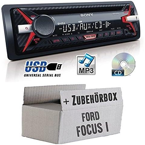 Ford Focus 1 - Sony CDX-G1100U - CD/MP3/USB Autoradio - Einbauset
